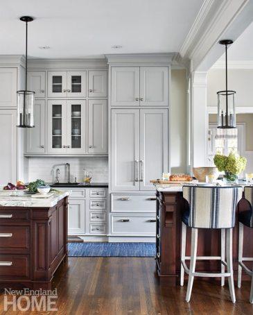 Hingham Tudor Style White Kitchen
