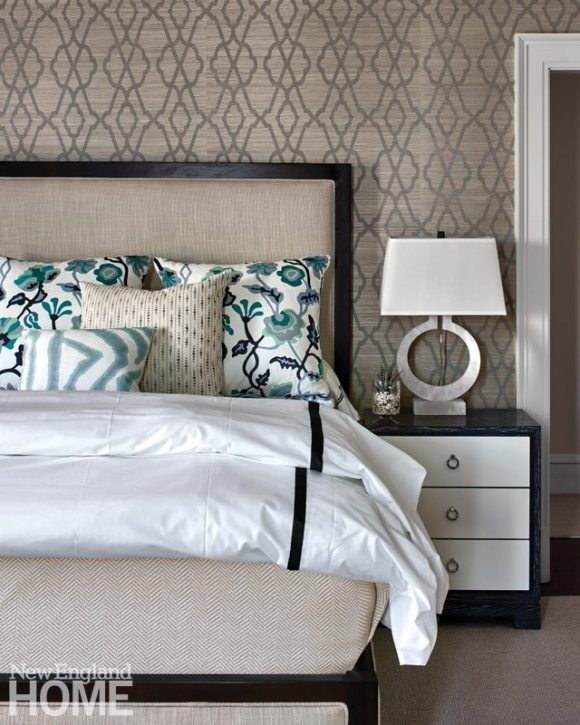Hingham Tudor Style Master Bedroom