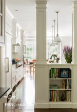 Traditional white kitchen built by FBN Construction