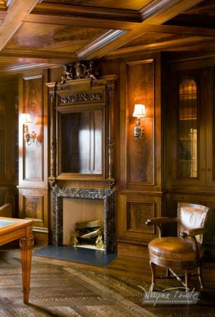 Wayne Towle Wood and Furniture Refinishing Stairway Crotched Mahogany