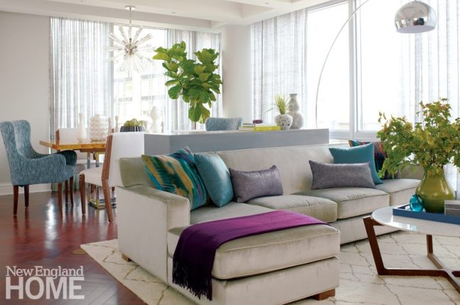 Family Friendly Condo Living Room with Sectional Sofa