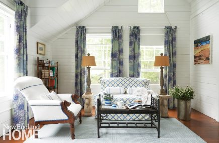 Coastal Maine Master Bedroom Seating Area