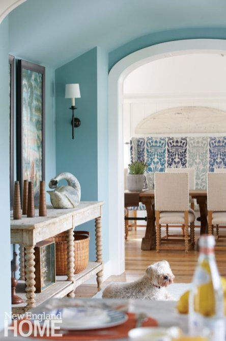 Nantucket Home Hallway in Dix Blue