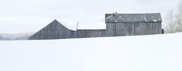 Jim Westphalen Winter Barnscape, Bakersfield, Vermont