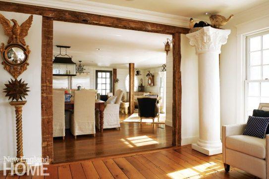 Colonial-Era Home Antique Beams