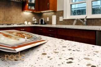 Kitchen Trends: New England Design and Construction Recycled Glass Countertop