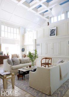 Renovated Barn White Living Room