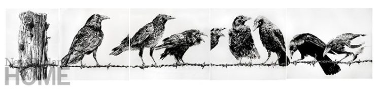 Rich Shaefer Crows on Wire