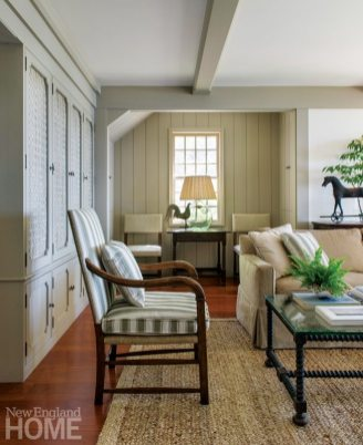Sustainable Cape Cod Family Room