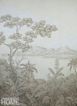 Hand-painted European scene from Gracie