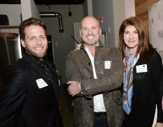 Joe Bertola of Bertola Custom Homes and Marc Hall and Andrea Shaw of The World of Marc Hal