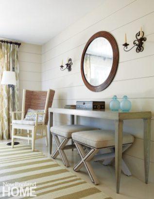 Chappaquiddick Shingle Cottage Guest Bedroom Vignette