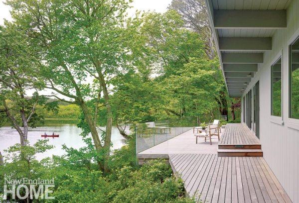 Midcentury Modern Pond View