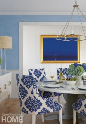 Nantucket Blue and White Dining Room