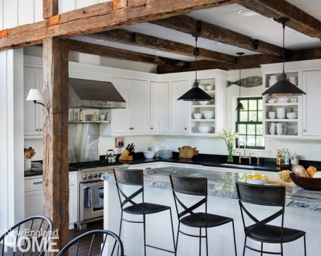 Restored Amos Otis House Kitchen