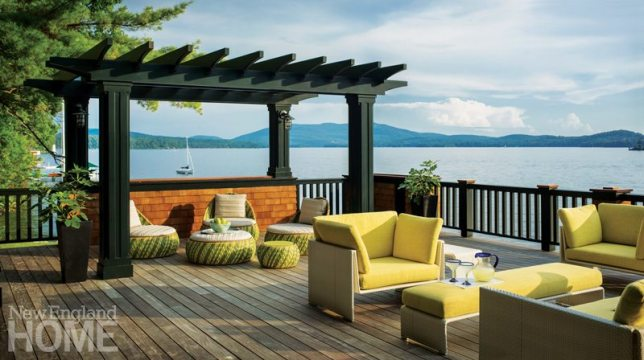 Lake Sunapee Camp Deck