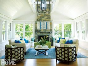 Rhode Island Shingle Style Living Room