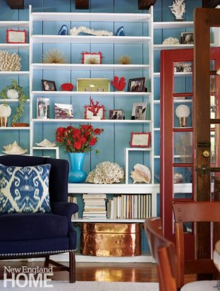 Darien Stone Cottage Living Room Bookcase