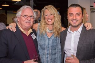 Rob Dean of Robert Dean Architects, New England Home Connecticut's Roberta Mancuso, and Chris Polidoro of Shoreline Painting