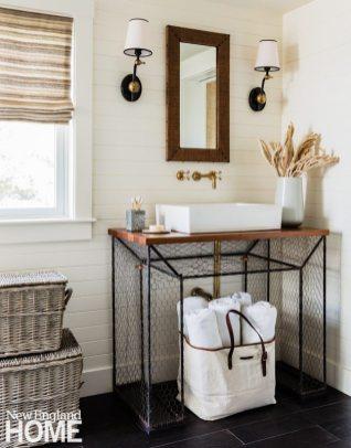 Lisa Tharp Black Iron Bathroom Vanity