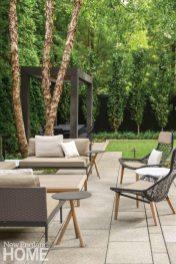 Contemporary Boston urban garden seating area