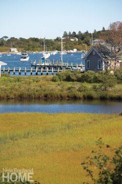 The house overlooks Edgartown Harbor.