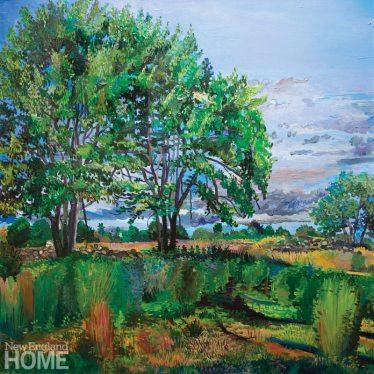 "Avondale Farm Preserve (2007), oil on linen, 30""H × 30""W"