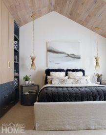 Master bedroom with natural materials