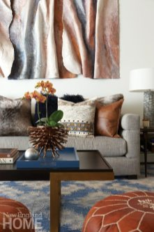Living room with Kathryn Lipke artwork
