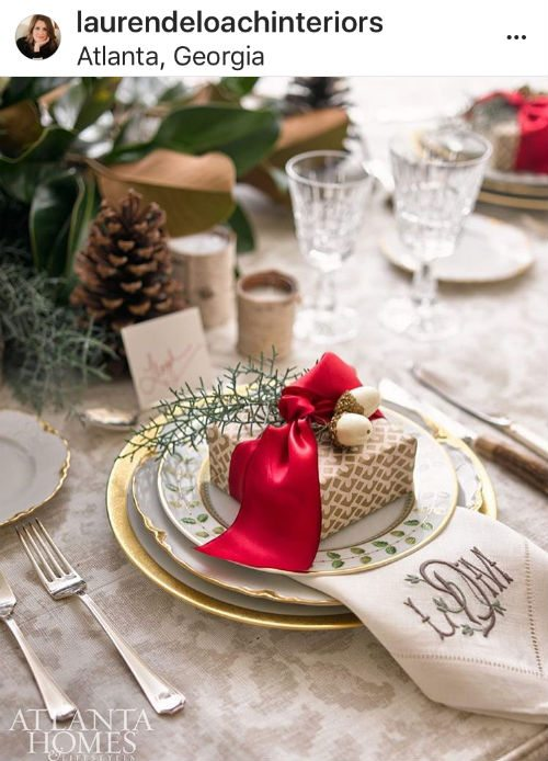 Lauren Deloach holiday table