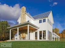 An open porch design ensures that distant mountain vistas are not obstructed from inside the home.