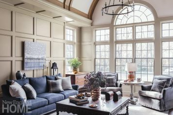 Living room with custom panelling