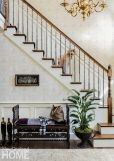Neutral entryway with vintage pieces