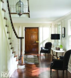 Entryway Federal-style home Connecticut