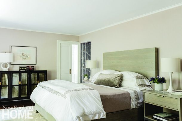 Master bedroom with Frette linens