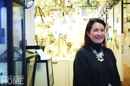 Sales associate Sue Pinzon helps designers and retail customers alike track down just the right piece from the diverse collection on display at Circa Lighting.