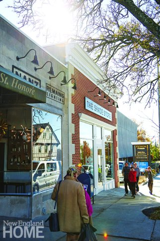 The wide sidewalks that line Greenwich's hometown-chic mix of stores and restaurants invite widow shopping at any time of year.