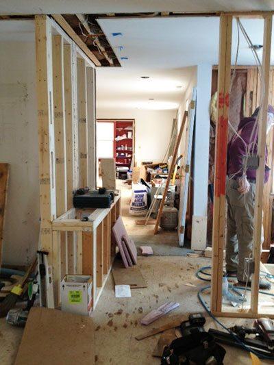 Cape Cod Renovation Entryway