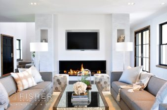 An ethanol fireplace is both beautiful and environmentally friendly.