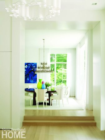 Contemporary white dining room