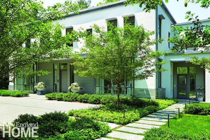 Exterior contemporary home