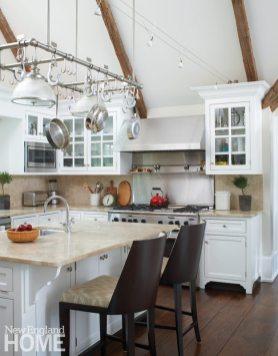 White kitchen Litchfield County