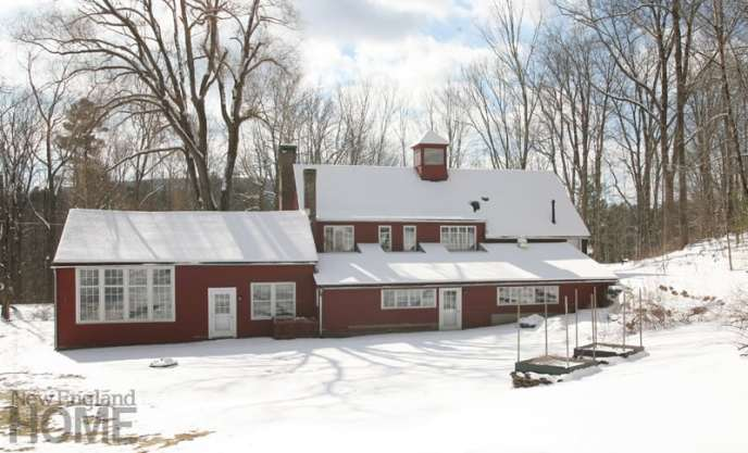 the artist's Litchfield County home and studio