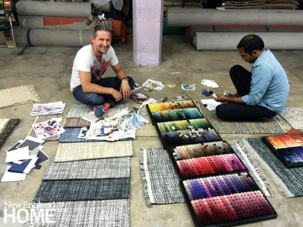 Staron choosing colorways for a collection.