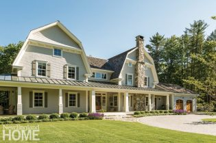 Exterior of custom home designed by Nicola Maganello