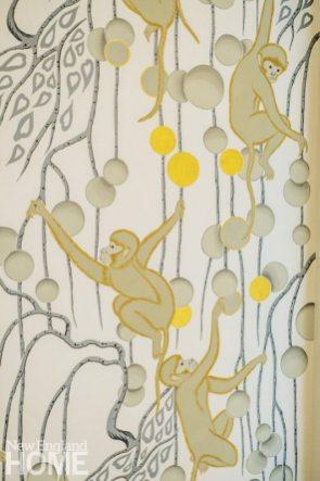 monkey wallpaper by de Gournay