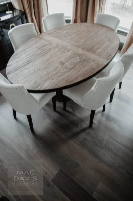 """Another view of European rustic white oak floors pre-finished in """"Coskata."""""""