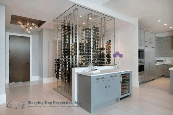 Glass wine storage