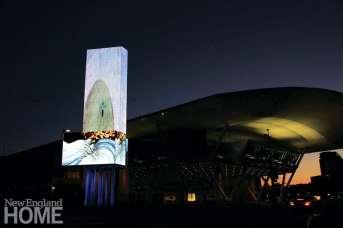 Landscape (2014), Art on the Marquee installation, Boston Convention Center, 80'H x 24'W.