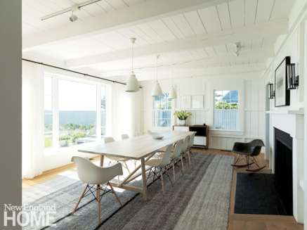 Large white Cape Cod dining room